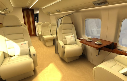 AgustaWestland AW101 VVIP Helicopter Interior1